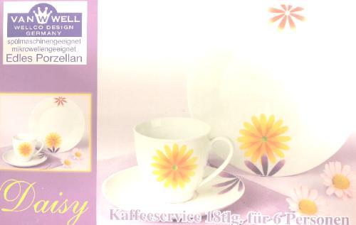 van well wellco design kaffeeservice daisy 18tlg 6. Black Bedroom Furniture Sets. Home Design Ideas
